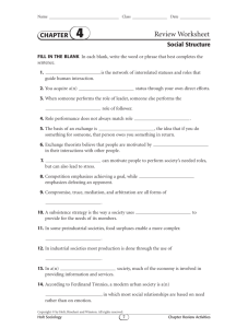 Review Worksheet - Field Local Schools