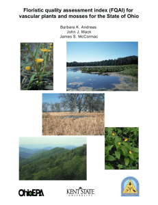 Floristic quality assessment index (FQAI) for vascular plants and