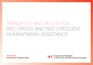 PrinciPles and rules for red cross and red crescent Humanitarian