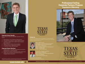 Brochure - Center for Professional Sales