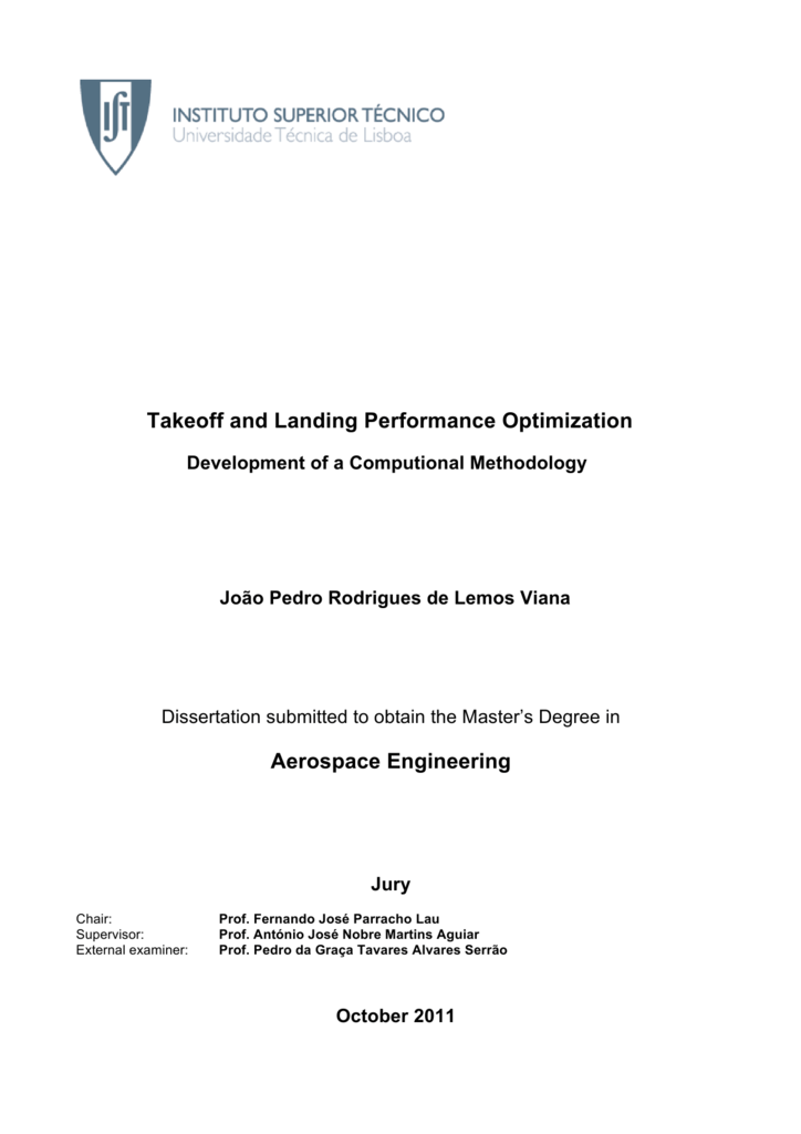 Takeoff and Landing Performance Optimization Aerospace