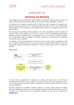 Guidelines for Advertising and Marketing