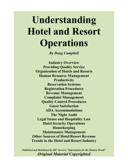 Understanding Hotel and Resort Operations