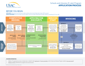 Application Process Flow Chart - Universal Service Administrative