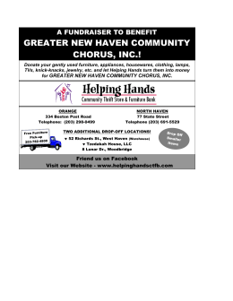 GREATER NEW HAVEN COMMUNITY CHORUS, INC.!