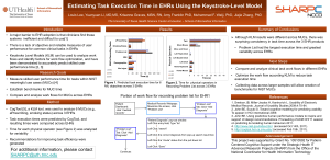 Estimating Task Execution Time in EHRs Using the Keystroke