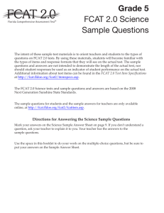 FCAT 2.0 2013 Grade 5 Science Sample Questions
