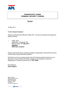transpacific trade terminal security charge