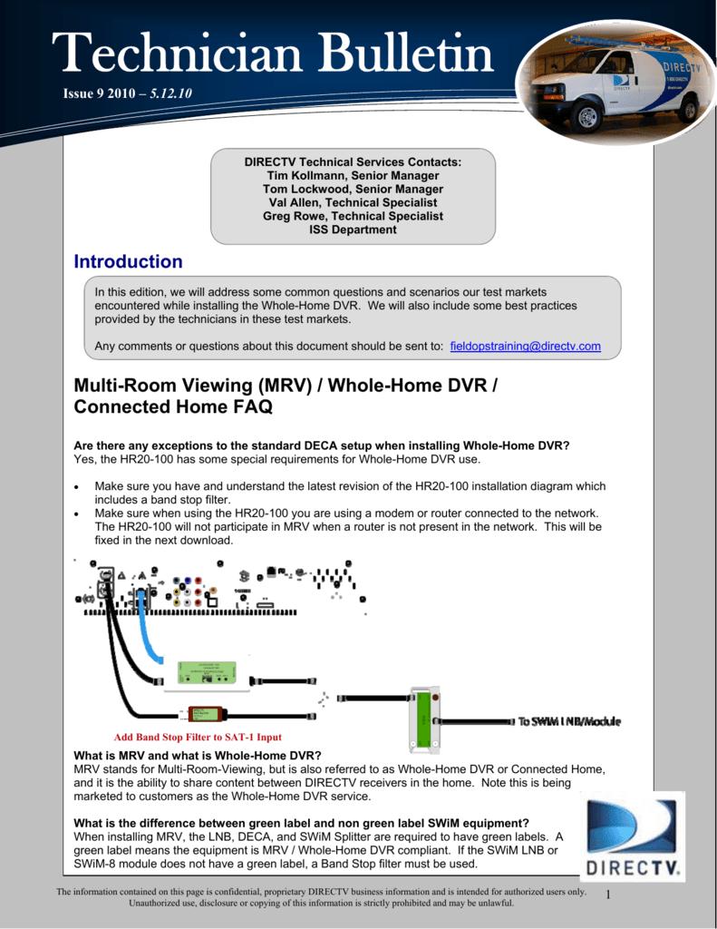Tech Bulletin Whole Home Dvr Wiring Diagram