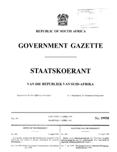 Public Investment Commissioners Amendment Act [No. 7 of 1999]