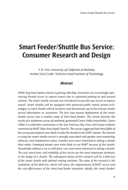 Smart Feeder/Shuttle Bus Service - National Center for Transit
