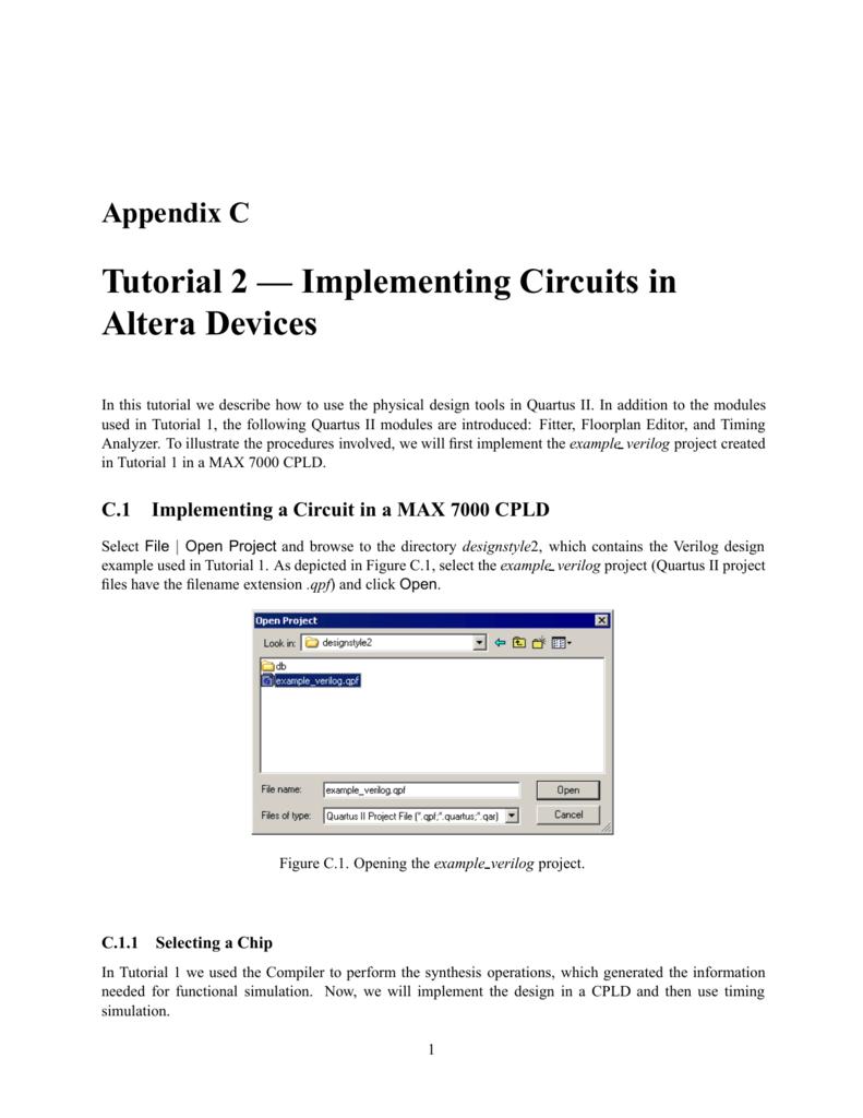 Tutorial 2 Implementing Circuits In Altera Devices Quartus Block Diagram