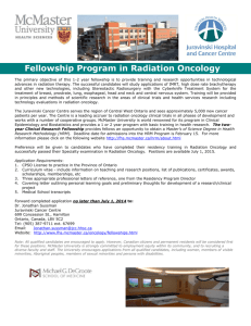 Fellowship Program in Radiation Oncology