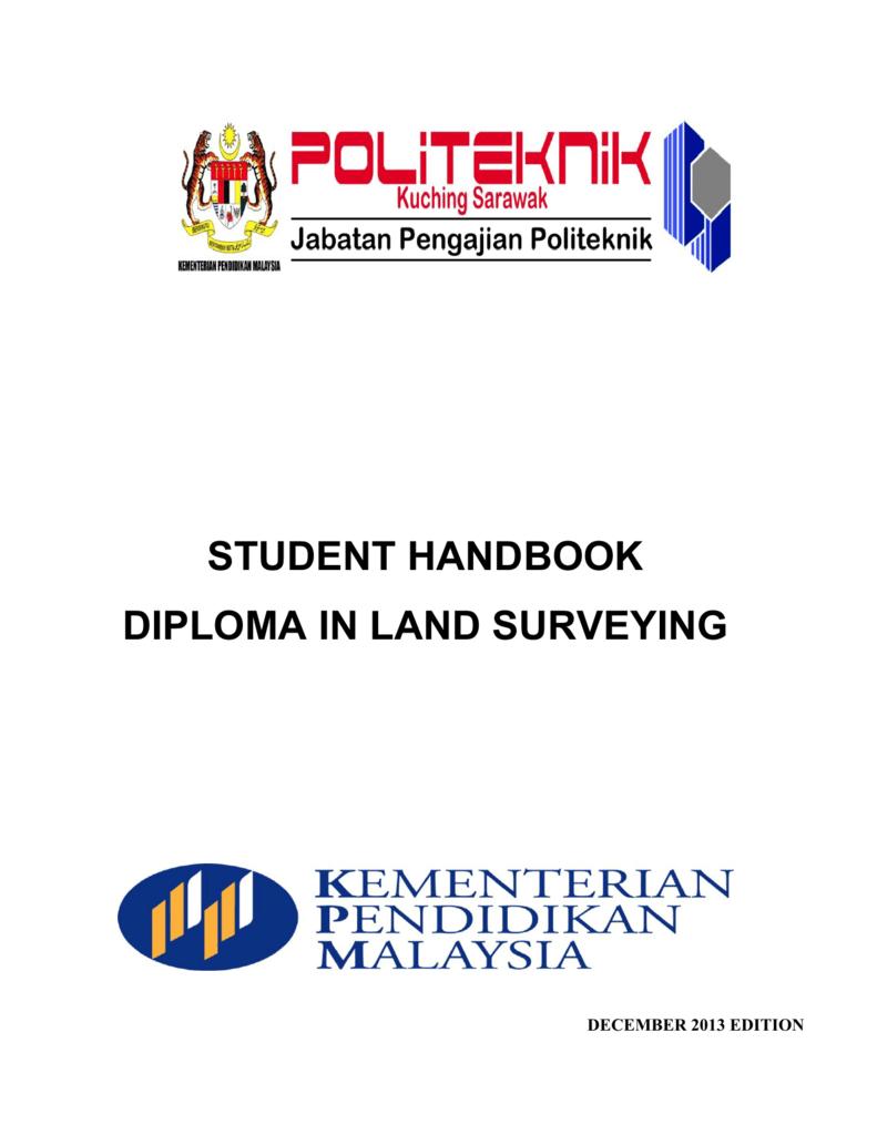 Student Handbook Diploma In Land Surveying