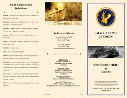 Small Claims Division - Unified Courts of Guam