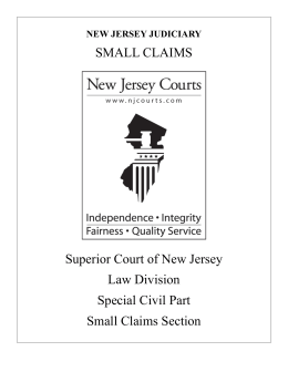 Small Claims - New Jersey Courts
