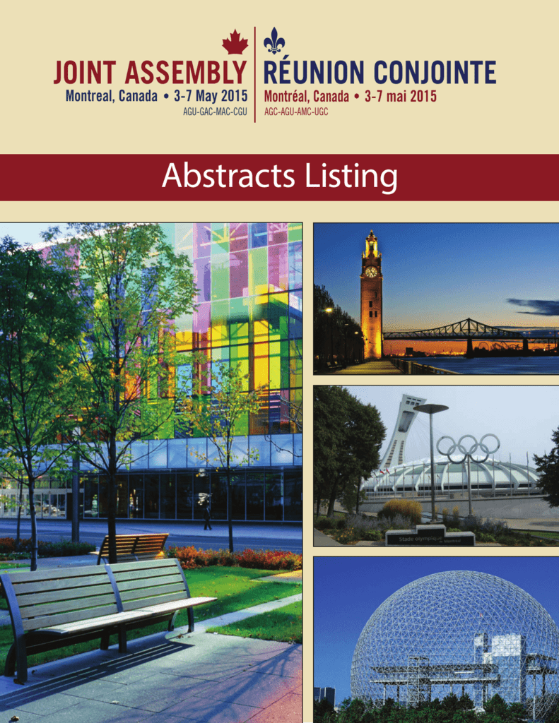 2d26433590a Abstracts Listing - 2015 Joint Assembly