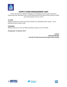 SUPPLY CHAIN MANAGEMENT UNIT