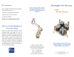 Strategies for Success with Profit Driver®