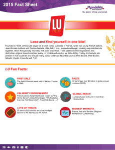 Lu Fact Sheet - Mondelez International
