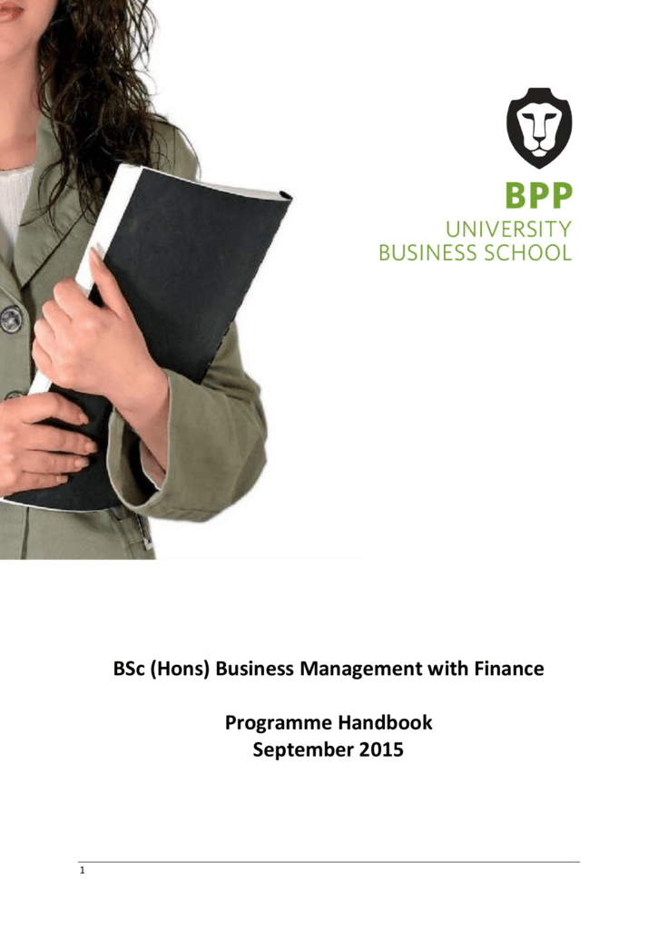 business management with finance programme handbook