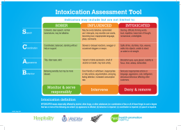 Intoxication Assessment Tool