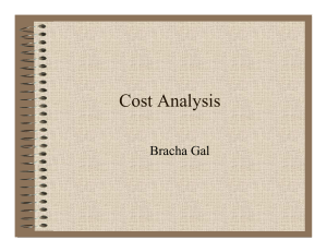 Cost Analysis - Thuc tap sinh