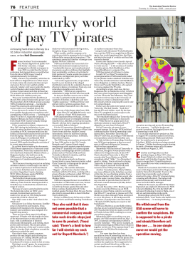 The murky world of pay TV pirates