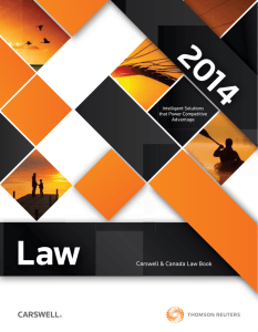 Carswell & Canada Law Book