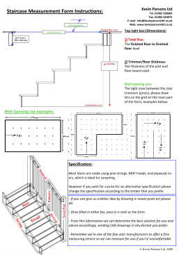 Staircase Measurement Form Instructions