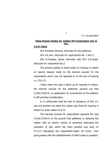 Vikas Kumar Dubey Vs. Indian Oil Corporation Ltd. & Ors. 14.07