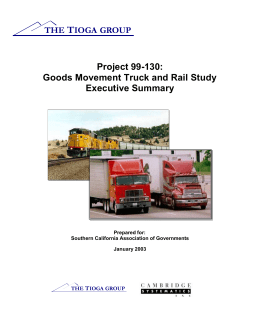 Goods Movment Truck and Rail Study