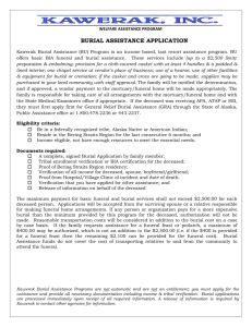 burial assistance application