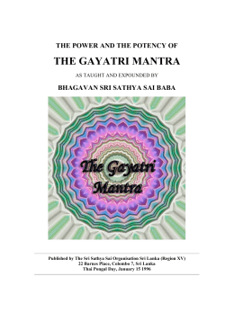 the gayatri mantra - Adeline Yoga Studio