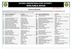 NPRA Public Notice to Employers - National Pensions Regulatory