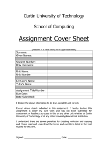 Assignment Cover Page - Computing