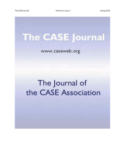 The CASE Journal Volume 6, Issue 2 Spring 2010