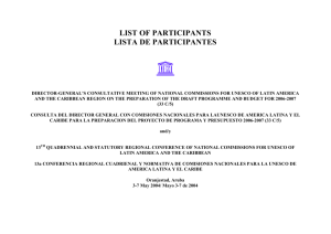list of participants lista de participantes