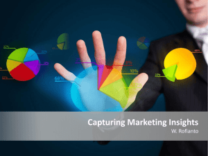 Capturing Marketing Insights