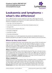Leukaemia and lymphoma – what's the difference?