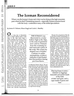 The Iceman Reconsidered