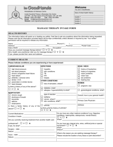 Initial Health Intake Form