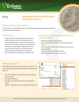 Replace your Paper-based Accounts Receivable Processes