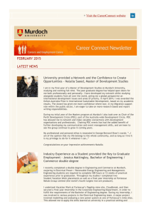 Careers and Employment Centre Newsletter
