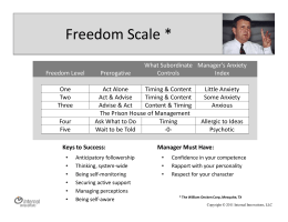 Freedom Scale - Internal Innovations