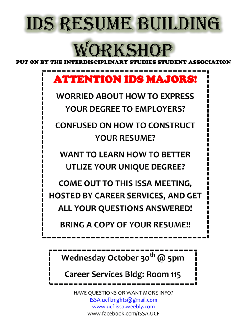 Workshop Ids Resume Building
