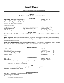 Resume – Interdisciplinary Studies - Career Services