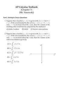 AP Calculus Testbank (Chapter 7) (Mr. Surowski)