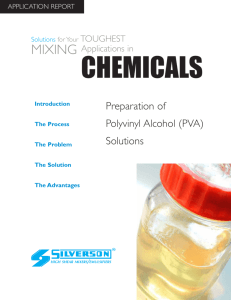 Preparation of Polyvinyl Alcohol (PVA) Solutions