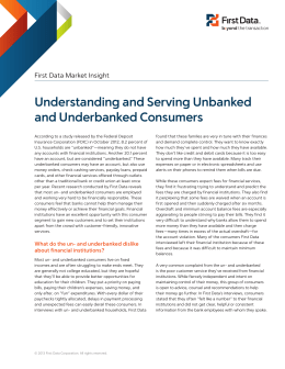 Understanding and Serving Unbanked and Underbanked Consumers